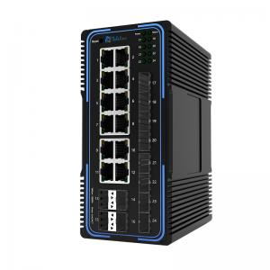 TLM505-12GT12GS 12 Ports 10/100/1000MBase and 12 SFP Slots Managed Industrial Switch