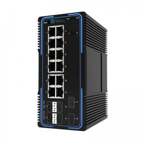 TLM505-12GT6GS 12Ports 10/100/1000MBase and 6 SFP Slots Managed Industrial Switch