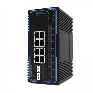 TLM505-8GT12GS 8 Ports 10/100/1000MBase and 12 SFP Slots Managed Industrial Switch