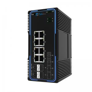 TLM505-8GT8GS 8Ports 10/100/1000MBase and 8 SFP Slots Managed Industrial Switch